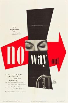No Way Out (Joseph L. Mankiewicz, 1950) US one sheet design by Paul Rand