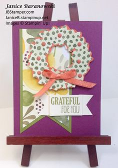 SGGW-9-26-15-Challenge-Fall-JBStamper, Fall colors card, Wonderful Wreath frailest, Fall banners, Stampin' Up!