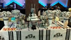 """שולחן למסיבת בר מצוה מאת מירב בן שטרית """"פינוקים מתוקים"""""""