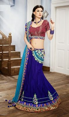 Gorgeous Designer Blue Chaniya Choli