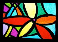arteascuola: Stained glass windows... of tissue paper!