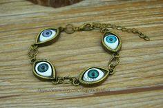 Mysterious eyeball charm braceletRetro bronze eye by Richardwu, $5.50