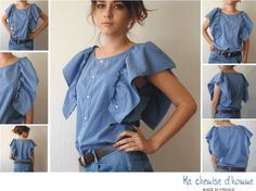 Re-Fashioning: Men's Shirt to Women's « 3 Hours Past the Edge of the World