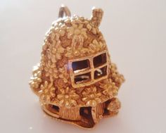 9ct Gold Opening Nuvo House Charm Rabbit by TrueVintageCharms, £245.00