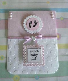 baby girl card: