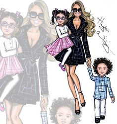 These are the cutest illustrations of any celebrity kids ever… If you are a big fan of celebrity kids such as Blue Ivy, Harper Beckham, North West and Roc & Roe you will love this! The illustrations were created by Hayden Williams Illustrations and are all the talk of social media.