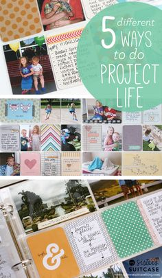My Sister's Suitcase: 5 Different Ways to do Project Life + Exclusive New Kit