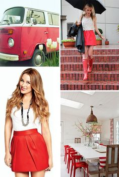 red: top right. LOVE the skirt, and boots
