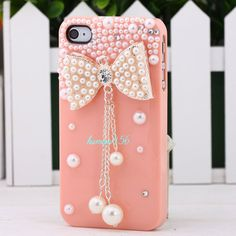 pink and pearls phone case
