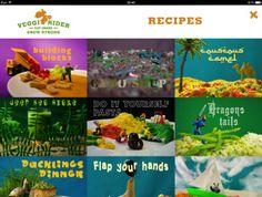 Veggi Rider app - healthy eating for kids