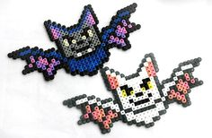 Hama Halloween - Spielwaren-Kröll in Gänserndorf Pony Bead Patterns, Pearler Bead Patterns, Perler Patterns, Beading Patterns, Mosaic Patterns, Crochet Patterns, Hama Beads Design, Diy Perler Beads, Perler Bead Art