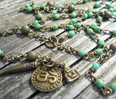 Om / Buddhist Turquoise Beaded Rosary / Wear or by DeLucaArt, $50.00