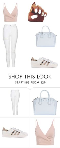 """Untitled #1"" by rufta115 ❤ liked on Polyvore featuring Topshop, Givenchy and adidas Originals"