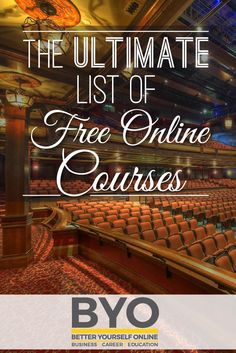 The Ultimate List of Free Online Courses. 1145 free online courses and counting! #Education