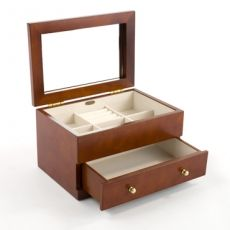 Mele & Co 'Olivia' Walnut Collection Medium Jewellery Box