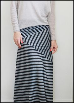 This would also work with some color blocking! Girl Charlee Fabrics: Tutorial Tuesday :: Stripe Play Maxi Skirt by Pretty Ditty