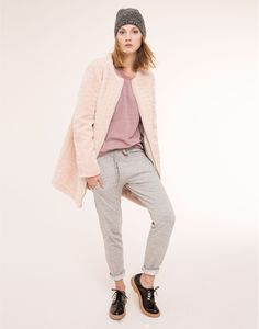 Veste fourrure femme pull and bear