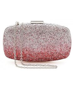 Womens Evening Bags Wedding Clutch Purse with Gradient Colors Glitter - Red    Silver - CD12NA2QMMP 7705bf116c60