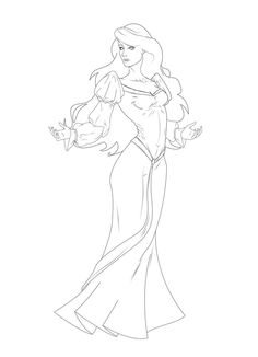 Odette the swan princess lineart refined by leo888