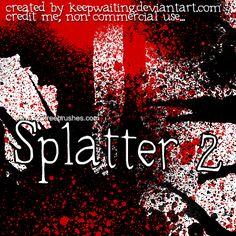 Extreme Splatter - Download  Photoshop brush http://www.123freebrushes.com/extreme-splatter/ , Published in #GrungeSplatter. More Free Grunge & Splatter Brushes, http://www.123freebrushes.com/free-brushes/grunge-splatter/ | #123freebrushes