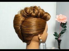"""▶ Прическа для длинных и средних волос """"Ракушка"""". French twist hairstyle for long medium hair - YouTube"""