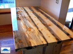 Beetle Kill Pine Trestle Table