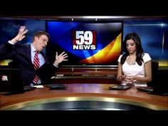 Watch This News Anchor Dance To Taylor Swift While His Co-Anchor Gives Him A Death Stare