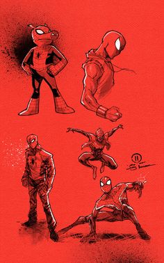 Spider-Verse sketches by JoeyVazquez.deviantart.com on @DeviantArt