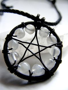 ✯ Moonstone Pentacle Necklace .. By ~MoonLitCreations✯
