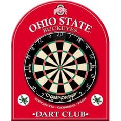 Fullerton 5 Piece Dartboard Cabinet Set With Electronic Scorer. Ohio State  ...