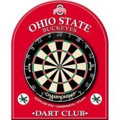 Ohio State University Buckeyes Dart Board Back, Game Room Equipment