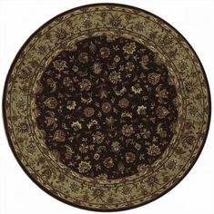 This beautiful Handmade Round rug is approximately 6x6 New Contemporary area rug from our large collection of handmade area rugs with China style from China with Wool pile