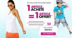 Ce sont les pré soldes chez Tati, 1 article acheté = 1 article offert jusqu'au 25 juin 2013.