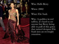 2002 Oscars - Halle Berry in Elie Saab