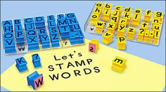 Rubber Stamp Alphabets at Lakeshore Learning $14.99