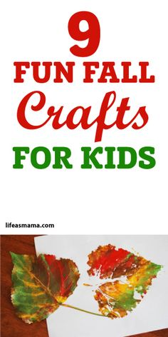 9 Fun Fall Crafts For Kids Except I wanna do some myself. Fall Crafts For Kids, Thanksgiving Crafts, Projects For Kids, Diy For Kids, Holiday Crafts, Autumn Activities, Craft Activities For Kids, Preschool Crafts, Fun Crafts