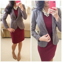 Fitted blazer over a summer dress. Cute for fall.