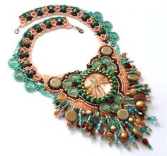 Beadwork by Lucie Avramova. The End Of Summer Necklace