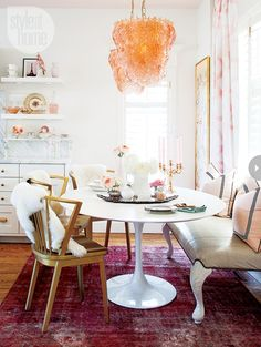 I dream of a white round dining table.....in love with bench style seating on one side......space saving or requires more space?