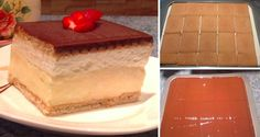 A simple cake to fall in love with: puff pastry, pudding, sponge fingers and o . Cake Flavors, Original Recipe, Nutella, Cheesecake, Deserts, Pudding, Meals, Fruit, Cooking