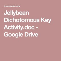 Jellybean Dichotomous Key Activity.doc - Google Drive