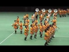 Kyoto Tachibana HS Marching Band 2009_floor view
