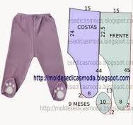 Resultado de imagen para moldes de ropa bebe+polar