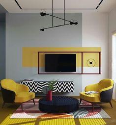 Bedroom Wall Designs, Home Decor Bedroom, Living Room Designs, Living Room Decor, Modern Bedroom Furniture, Contemporary Furniture, Deco Design, Design 3d, Cheap Home Decor