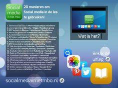 20 x Socialmedia - Bekijk deze 20 manieren om gemakkelijk sociale media in de les te gebruiken - Created on Tactilize