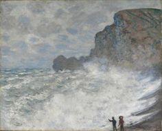 Claude Monet, Gros Temps à Étretat, 1883.  National Gallery of Victoria, Melbourne, Felton Bequest, 1913  © Public Domain