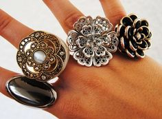 love these chunky rings!