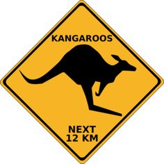 Travel Luggage Cover Blue Australia Map Red Kangaroo Silhouette Suitcase Protector