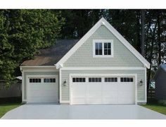 Residential White Carriage Garage Doors With Top Windows