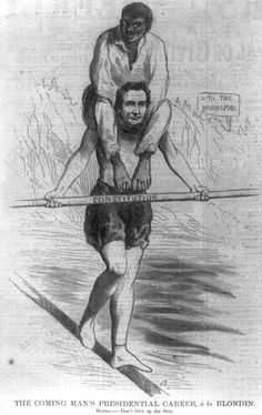 Blondin Walked Across Niagara Falls By Tightrope: Lincoln as Blondin